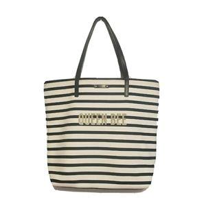 Kate Spade QUEEN BEE Bon Shopper Tote Bag striped